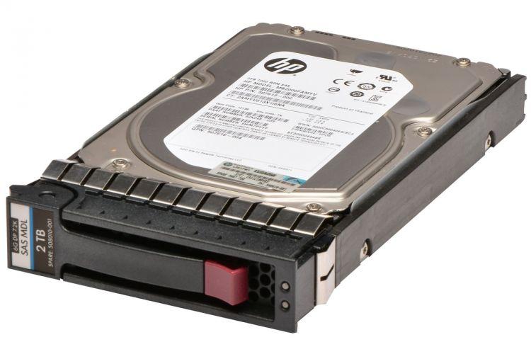 HPE Hot-Plug 2TB 6G 7.2K RPM, 3.5-inch LFF Dual-Port SAS hard drive