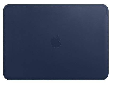 Чехол кожаный Apple MRQL2ZM/A Leather Sleeve for 13-inch MacBook Pro Midnight Blue чехол apple leather sleeve for macbook pro 16 mwv92zm a saddle brown