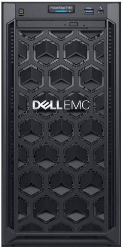 Сервер Dell PowerEdge T140 4LFF Cabled / E-2244G/ 8GB UDIMM/ S140 Only SATA RAID / 2TB SATA 7.2k/ 2xGE/ 365W/ iDRAC Express/ 3YBWNBD/ DVD-RW