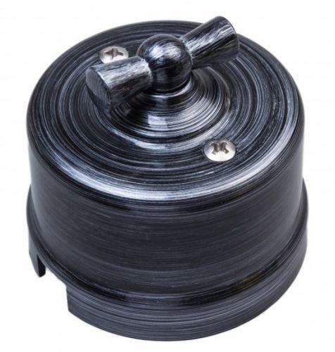 Выключатель Bironi B1-203-11 серебряный век, перекрестный, пластик