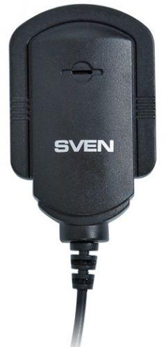 Микрофон Sven MK-150 SV-0430150 3.5 мм Jack, черный, на клипсе