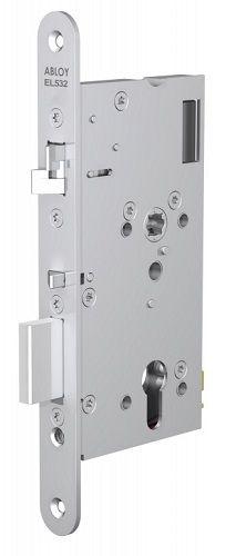 Замок Abloy EL532 врезной моторный, со встроенным блоком управления для сплошных дверей, стандарт DIN, контроль доступа с двух сторон, выход по ручке