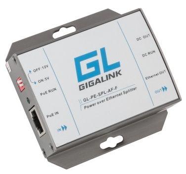 Адаптер PoE GIGALINK GL-PE-SPL-AT-F сплиттер, 100Мбит/с, 802.3at