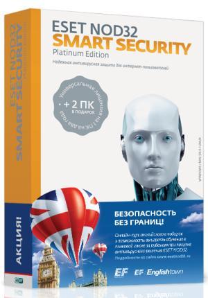 Eset NOD32 Smart Security Platinum Edition на 2 года на 3ПК