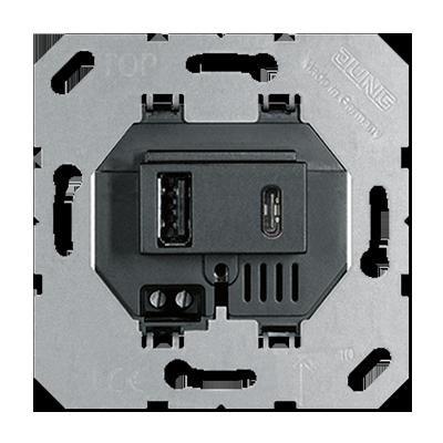 Розетка Jung USB15CASW USB зарядное устройство