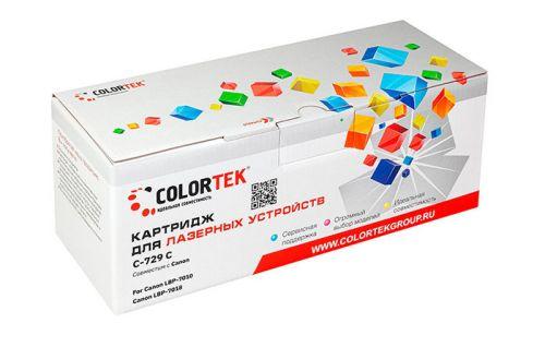 Картридж Colortek CT-729C для Canon LBP-7010, Canon LBP-7018, голубой, 1000 стр