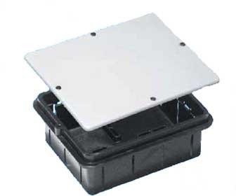 Коробка распределительная TYCO 10163 для скрытого монтажа, 151х122х73мм, усиленная с крышкой , IP20 ,черная стяжка для рамы кровати усиленная черная al12r bl