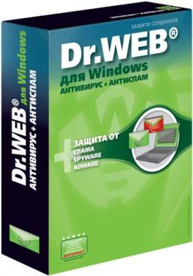Dr.Web для Windows  Антивирус+Антиспам + криптографическая система Atlansys Bastion, на 24 месяце