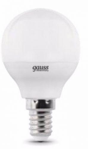 Лампа светодиодная Gauss 53126 LED Elementary Globe 6W E14 4100K 1/10/50 лампа светодиодная gauss 33128 led elementary candle 8w e14 4100k 1 10 100