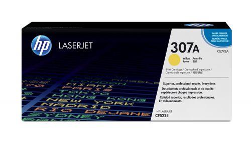 Картридж HP 307A CE742A для принтера Color LaserJet CP5225 желтый