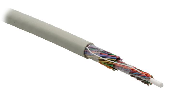 Hyperline UUTP50M-C5-S24-IN-PVC-GY