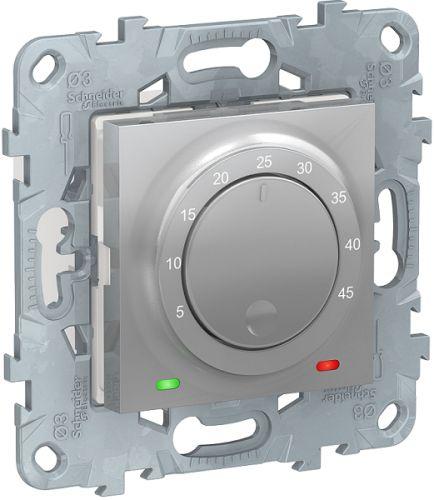 Термостат Schneider Electric NU550330 UnicaNew, алюминий, теплого пола, 10А, выносной термодатчик