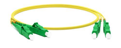 Кабель патч-корд волоконно-оптический Hyperline FC-D2-9-LC/AR-LC/AR-H-1M-LSZH-YL (шнур) SM 9/125 (OS2), LC/APC-LC/APC, duplex, LSZH, 1 м