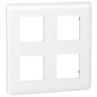 Рамка Mosaic Legrand 78838 4 отсека (2х2) по 2 модуля (белая)