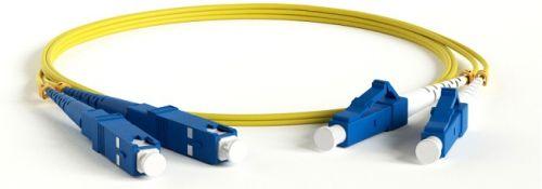 Кабель патч-корд волоконно-оптический Hyperline FC-D2-9-FC/UR-SC/UR-H-2M-LSZH-YL SM 9/125 (OS2), FC/UPC-SC/UPC, 2.0мм, duplex, LSZH, 2м патч корд hyperline fc d2 50 sc pr sc pr h 2m lszh 2 м оранжевый