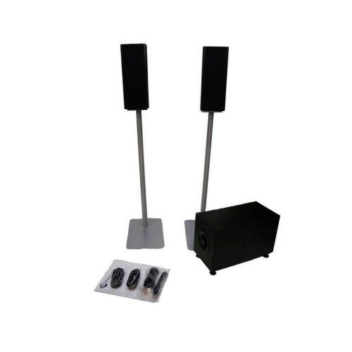 Фото - Акустическая система Polycom 7230-65878-125 Stereo Speaker kit, 110-220v. Includes: 2*60w Satellite speakers, 1*150w subwoofer, fuses for both 120 or cartridge fuses 125v 5a slo blo 5