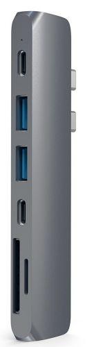 Концентратор USB 3.0 Satechi ST-CMBPM aluminum Pro Hub для Macbook (USB-C), HDMI/Thunderbolt 3/USB Type-C/SD/microSD/2 x 3.0, серый космос