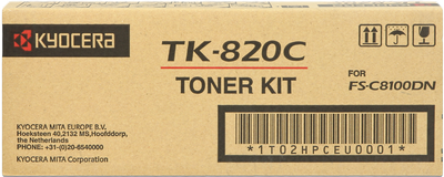 Kyocera Тонер-картридж Kyocera TK-820C (1T02HPCEU0)