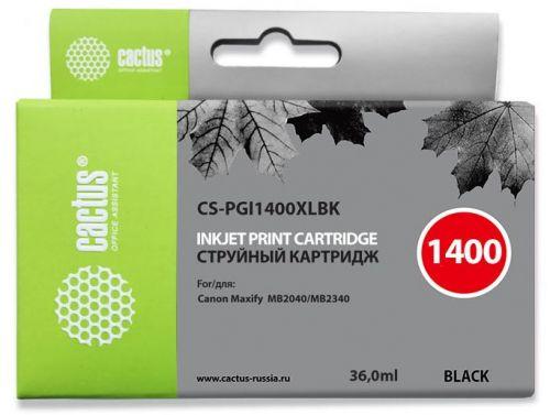 Картридж Cactus CS-PGI1400XLBK черный для Canon MB2050/MB2350/MB2040/MB2340 (36мл)