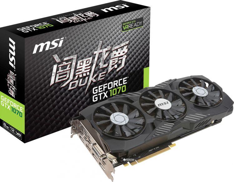 MSI GTX 1070 8G DUKE (УЦЕНЕННЫЙ)