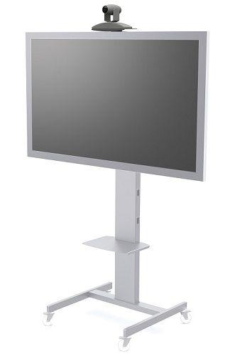 Стойка мобильная FIX MP50 для телевизоров и панелей 32-50 до 50кг, VESA max 600х400, высота 150-170см, серебро мобильная стойка для панелей и телевизоров fix m50 black
