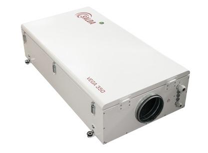 Приточная установка Salda VEGA 350 E 500 м³ в час, суперкомпактная с интегрированной автоматикой (пульт управления - опция)