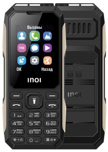 Мобильный телефон INOI 106Z black 1.8 1650mAh металл. вставки, защищенный дизайн 2 SIM мобильный телефон inoi 103b black