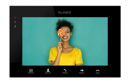 """Видеодомофон Slinex SQ-07MTHD черный, 1024×600, MicroSD 64 Гб, 7"""" цветной сенсорный TFT экран 16:9"""
