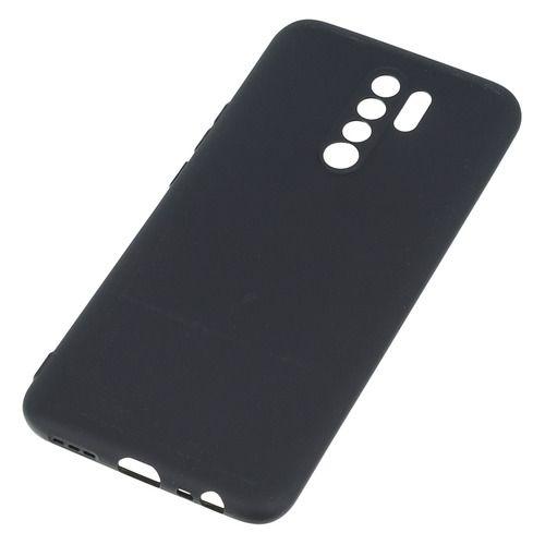 Чехол BoraSco 39069 Sillicone Case матовый для Xiaomi Redmi 9 черный