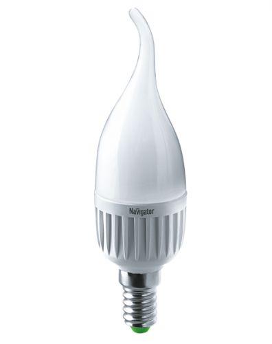 Фото - Лампа светодиодная Navigator 18946 LED 7вт E14 теплый матовая свеча на ветру (94495 NLL-FC37) лампа светодиодная 7вт 230в e14 filament теплый свеча gauss