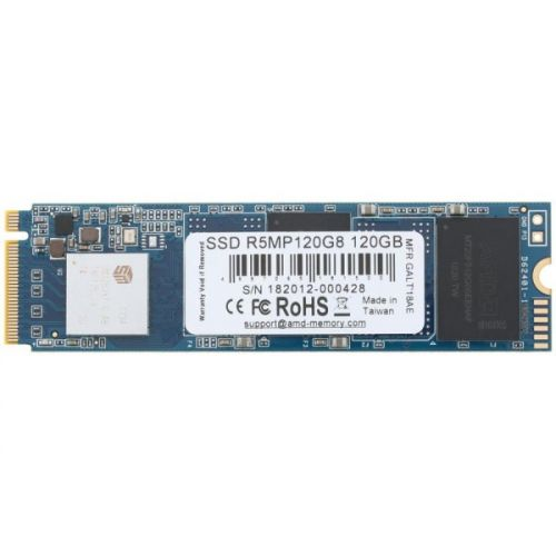 Фото - Накопитель SSD M.2 2280 AMD R5M120G8 120GB SATA III 3D TLC 530/400MB/s IOPS 64K/81K ssd накопитель transcend ts120gmts820s 120gb m 2 2280 sata iii ssd ts120gmts820s