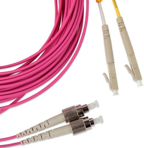 Кабель патч-корд волоконно-оптический Hyperline FC-D2-504-FC/PR-LC/PR-H-3M-LSZH-MG MM 50/125(OM4), FC-LC, duplex, LSZH, 3 м патч корд hyperline fc d2 50 lc pr sc pr h 1m lszh 1 м оранжевый