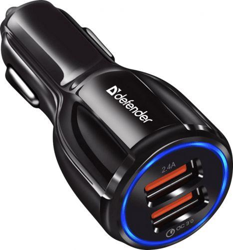 Зарядное устройство автомобильное Defender QC3.0 83833 2.4A
