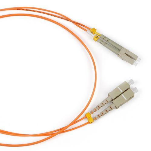 Кабель патч-корд волоконно-оптический Hyperline FC-50-LC-SC-PC-5M FC-D2-50-LC/PR-SC/PR-H-5M-LSZH-OR 50/125, LC-SC, duplex, LSZH, 5м патч корд hyperline fc d2 50 lc pr sc pr h 1m lszh 1 м оранжевый