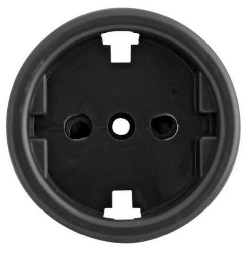 Накладка Bironi B3-061-23 на механизм розетки, для скрытого монтажа (крепежный шуруп в комплекте)
