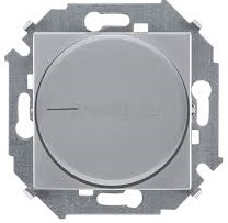 Светорегулятор Simon 1591796-033 поворотный для диммируемых LED ламп, 230В, 5-215Вт, винт.заж., алюминий