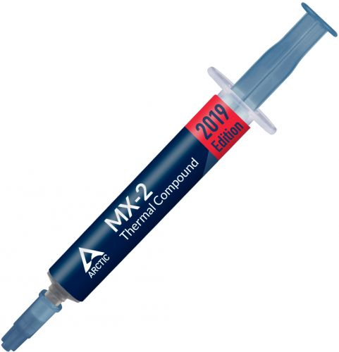 Термопаста ARCTIC MX-2 ACTCP00004B 8г, шприц, теплопроводность 5.6 Вт/мК, вязкость 850 пуаз, плотность 3.96 г/см³