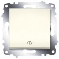 Переключатель ABB 619-010300-214 Cosmo перекрестный одноклавишный, 10А, 250В, IP20 (сх.7) (кремовый) выключатель abb 619 011000 200 cosmo одноклавишный 10а 250в ip20 алюминий