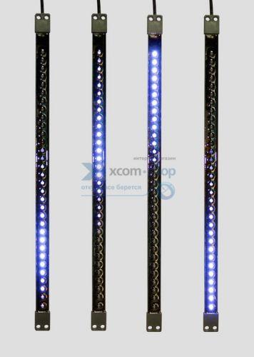 Гирлянда NEON-NIGHT 256-124 сосулька светодиодная 50 см, 9,5V, двухсторонняя, 32х2 светодиодов, пластиковый корпус черного цвета, цвет светодиодов син
