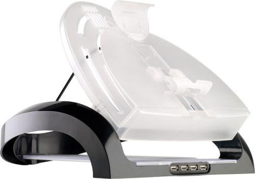 Подставка Fellowes FS-80248 для ноутбуков, планшетов и смартфонов, USB HUB x4, черная
