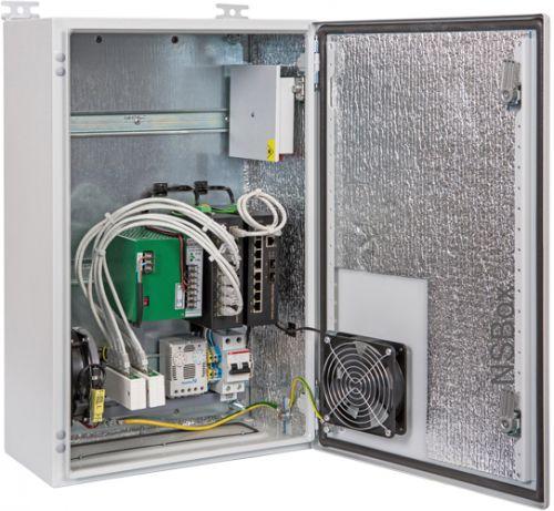 Узел доступа NSGate NSBox-360H PX29F36H шкаф NSB-3860H3F1 с нагревателем, с ODF; ИП 48VDC-500W; коммутаторы WI-PS310GF-I x2: uplink 2 Giga TP/SFP com