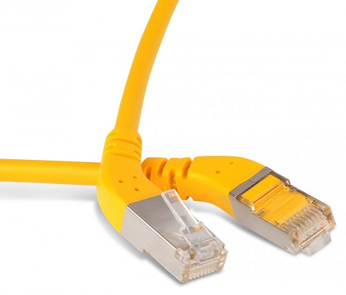 Hyperline PC-APM-STP-RJ45/L45-RJ45/L45-C5e-5M-LSZH-YL