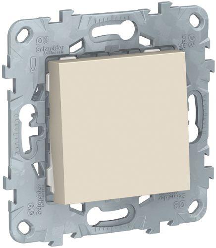 Фото - Выключатель Schneider Electric NU520644 UnicaNew, беж, 1-клавишный, кнопочный, сх. 1, 10 A выключатель schneider electric nu520118 unicanew белый 1 клавишный сх 1 10 ax 250в