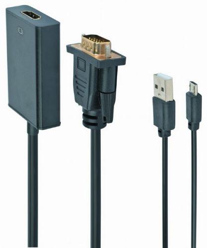 Переходник Cablexpert A-VGA-HDMI-01 VGA (M)-HDMI (F), 19M/15F, длина 15см, аудиовыход Jack 3,5 (M), питание от USB аксессуар palmexx hdmi vga px hdmi vga