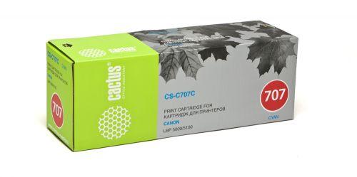 Картридж Cactus CS-C707C для принтеров Canon LBP-5000, голубой