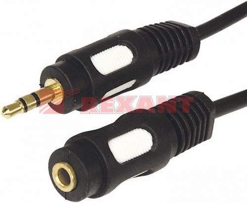 Кабель Rexant 17-4017 3.5 Stereo Plug - Jack, 7м (GOLD), упаковка 5шт