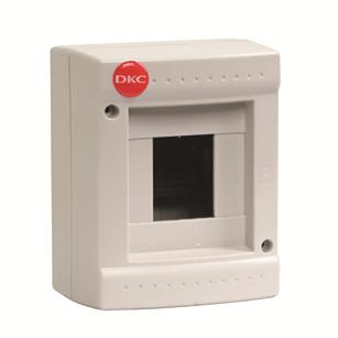 Щиток модульный DKC 83604 настенный, без дверцы, 4 модуля, IP40, серый,