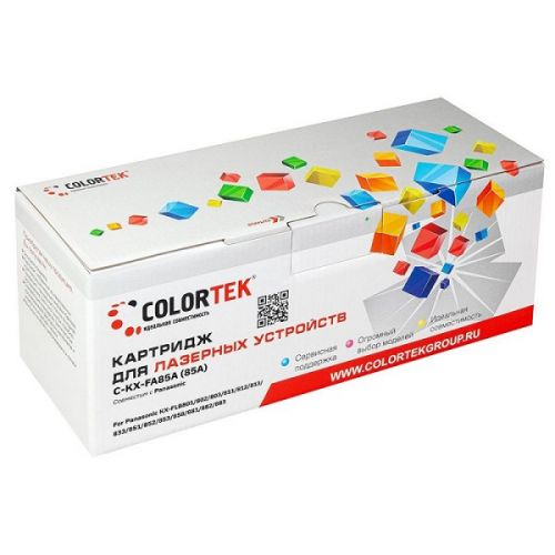 Картридж Colortek CT-KXFA85A черный, 5000 стр. для принтеров Panasonic KX-FLB801, KX-FLB802, KX-FLB803, KX-FLB811, KX-FLB812, KX-FLB813, KX-FLB833, KX