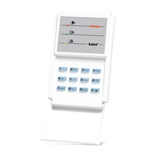 Клавиатура SATEL INT-S-BL светодиодная групповая для ПКП INTEGRA и CA-64, 3x2 индикатора состояния системы, голубая подсветка клавиш