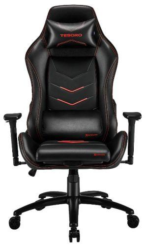 Кресло Tesoro Alphaeon S3 TSF720RD черно-красное, экокожа, регулируемый угол наклона, механизм качания, до 130 кг
